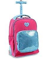 J World New York Sparkle Kids Rolling Backpack