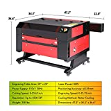 Orion Motor Tech 80W CO2 Laser Engraver Cutter with 28 x 20in Work Area, Laser Engraving Cutting Machine with Ruida Digital LCD Control Real-Time Power Data, Safety Sensor, USB Port, Air Assist