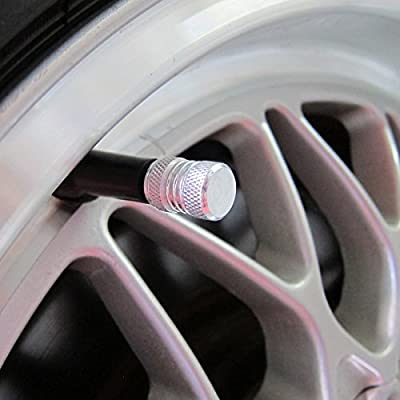 Prime Ave PA Aluminum Alloy Wheel Tire Valve Stem Caps (Silver): Automotive