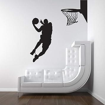 Pegatina De Pared Frases Michael Jordan Jugador De Baloncesto Dunk ...