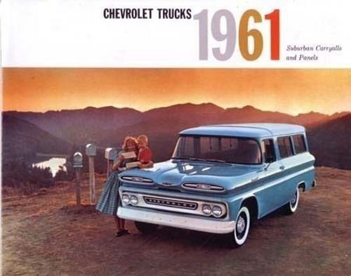 Download FULL COLOR 1961 CHEVY SUBURBAN CARRYALLS TRUCK BEAUTIFUL & HISTORIC DEALERSHIP SALES BROCHURE - ADVERTISMENT Includes All Models - CHEVROLET 61 PDF
