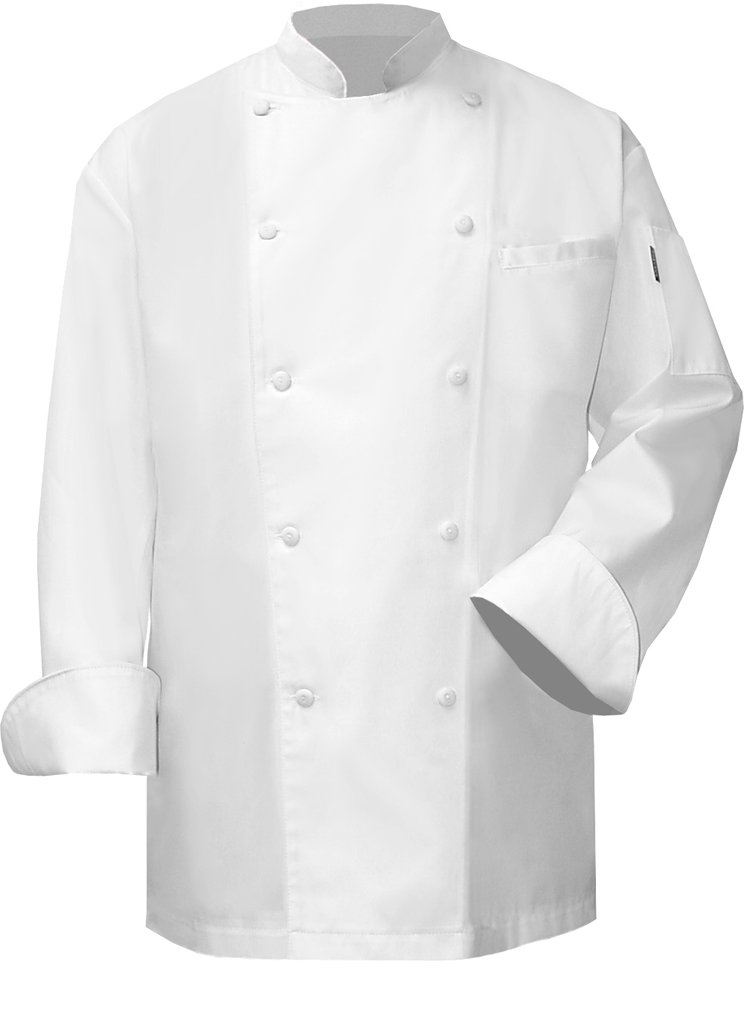 Newchef Fashion VIP White Chef Coat Men 2XL White by Newchef Fashion