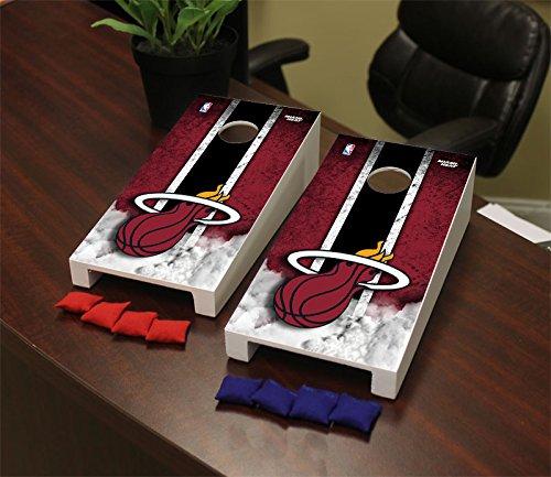 Victory Tailgate Miami Heat NBA Desktop Mini Cornhole Game Set