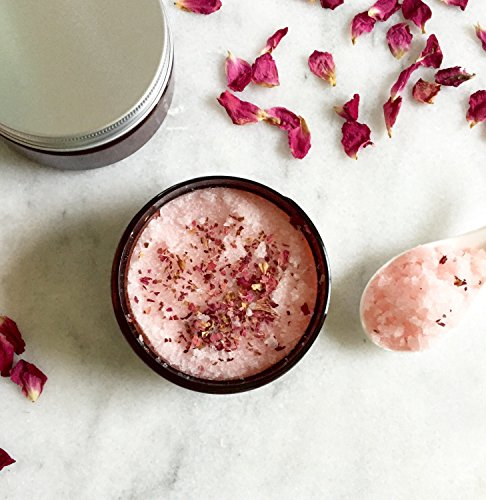Rose & Ylang Ylang Body Scrub | 100% Natural | Sugar Scrub | Body Polish | wide mouth jar 8 oz by KayaSoaps