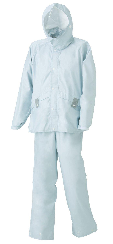 スミクラ ストリートシャワースーツ ライブ 全5サイズ 上下スーツ グレー LL 防水透湿 収納袋付き 反射テープ付き [正規代理店品] B019T25KR2 LL LL