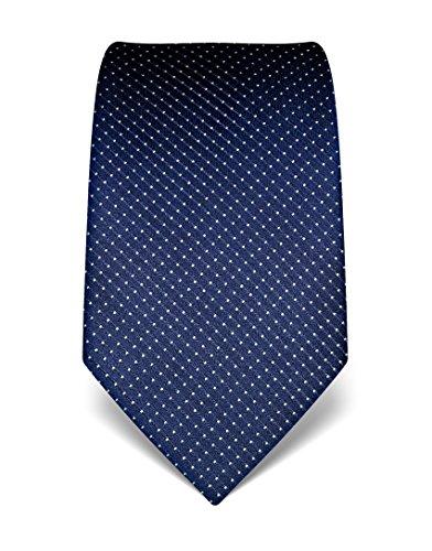 Vincenzo Boretti Men's Silk Tie - polka dot pattern - many colors (Christmas Silk Necktie)