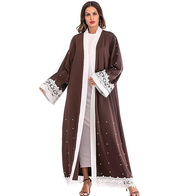77ef5c08563 Close-dole Women s Muslim Middle Eastern Arab National Style Long Cardigan  Robe Abaya Long Islamic