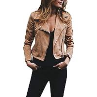 Overdose Nuevas SeñOras para Mujer Retro Rivet Fresco Zipper Up Bomber Chaqueta De Moda Casual Outwear
