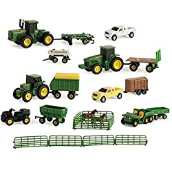 John Deere 20-Piece Vehicle Toy Set Assortment, 1: