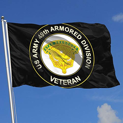 REXBS US Army 49th Armored Division Unit Crest Veteran 3x5 Foot Flag Outdoor 3x5 Ft Flags Best Military Flag is Not Damaged Durable