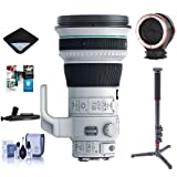 Canon EF 400mm f/4 DO IS II USM Super Telephoto Lens USA Warranty - Bundle With 4 Section CF Monopod, Peak Lens Changing Kit Adapter, Cleaning Kit, Lens Wrap, Lenpen Cleaner, Software Package