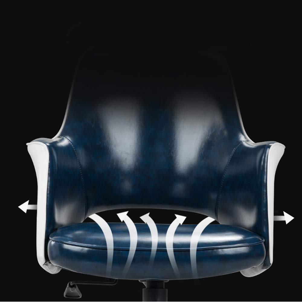 Xiuyun datorstol lång tid arbetskontor stol lounge barstol ihålig design midja ryggstöd plast (färg: Blå) Svart