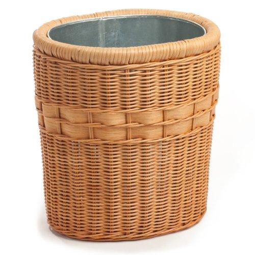 - The Basket Lady Oval Wicker Waste Basket One Size (size 0) Toasted Oat
