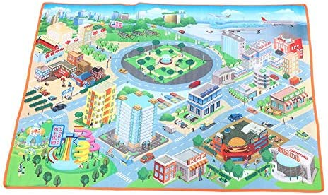 Kids Toddler Mat Pad City Map Car Toys Crawling Game for Interactive Play House