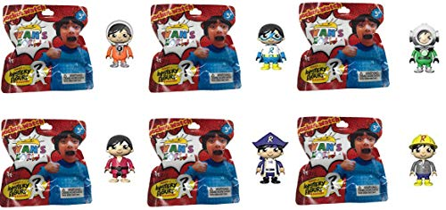 Character Figurine (Ryan's World 6 Pack Figurine Surprise Pack - Includes 6 Random Characters from Ryan's Toy Review)