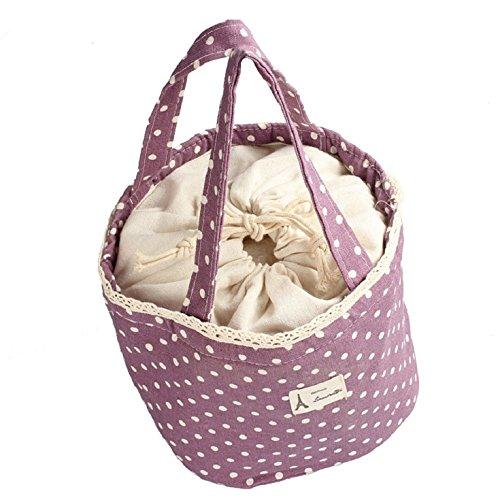 purple Malloom/® t/érmico aislado almuerzo caja totalizador enfriador bolsa Bento bolsa almuerzo contenedor p/úrpura