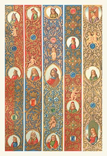 ArtParisienne Renaissance Design No. 4 Auguste Racinet 16x24-inch Wall ()