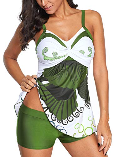 B2prity Womens Tankini Swimsuits with Boyshort Plus Size Swimwear Bathing Suits