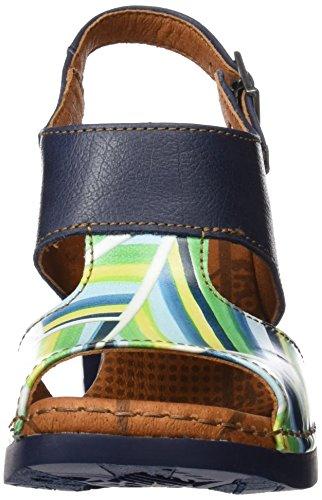 ART 0546 Fantasy Cannes, Sandalias con Tira de Tobillo para Mujer Varios colores (Stripes)