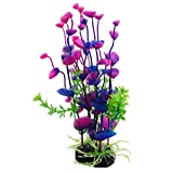 Wrisky Purple Artificial Water Plant Grass Decor Ornament For Fish Tank Aquarium