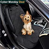 CPG DOTS Non-Slip Front Seat Cover Protector for Pets,Dog Seat Cover, Waterproof Scratch Proof Backing, Hammock Convertible, Quilted, Padded,for Cargo Liner,Trunks and SUVs,Black (Single Seat) For Sale