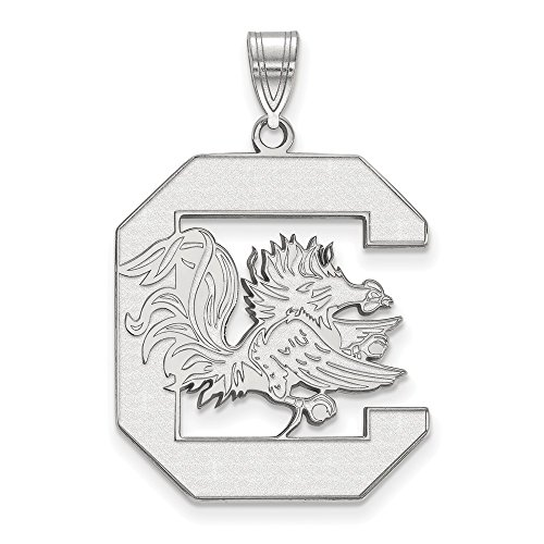 Jewelry Stores Network University of South Carolina Gamecocks Cocky Mascot Pendant in Sterling Silver XL - (25 mm x 22 mm)