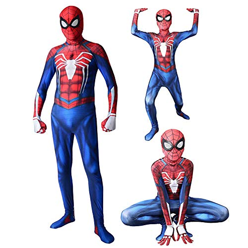 RELILOLI Spiderman Costume (Adult-XXL(Height 175-180cm), PS4 Spiderman)