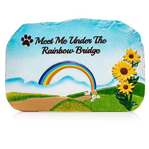 (Humane Goods Rainbow Bridge Pet Memorial Stone - 9