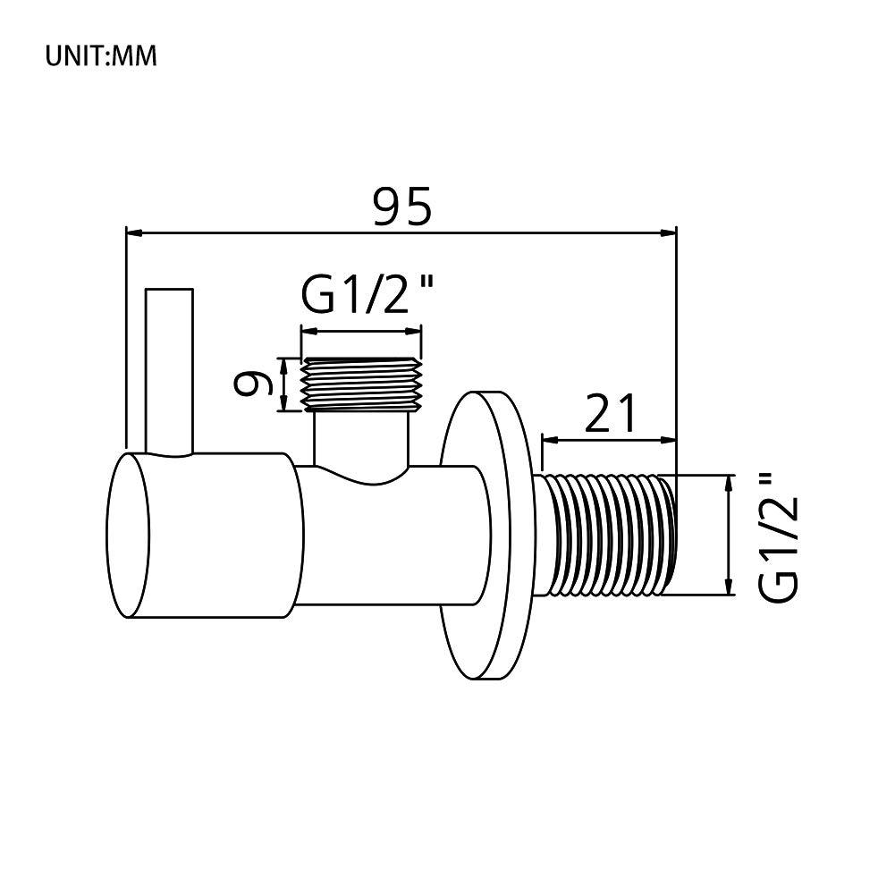 Escuadras de /ángulo para lavadero y lavavajillas GRIFEMA G151 COMPLEMENTO Llave de escuadra con palanca 1//2 X 3//8 Lat/ón//Crome