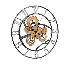 Cape Craftsmen Industrial Gears Metal Wall Clock