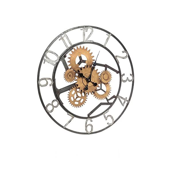 Cape Craftsmen Industrial Gears Metal Wall Clock 3