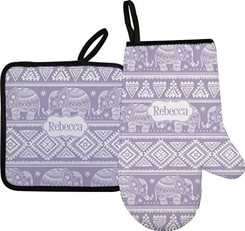 RNK Shops Baby Elephant Oven Mitt & Pot Holder (Personalized)