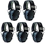 Walkers-GWPRSEMPAT-Razor-Patriot-Electronic-Earmuff-23-dB-Black--5-Pack