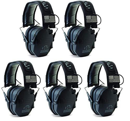 Walkers GWPRSEMPAT Razor Patriot Electronic Earmuff 23 dB Black - 5 Pack by Walker's Game Ear