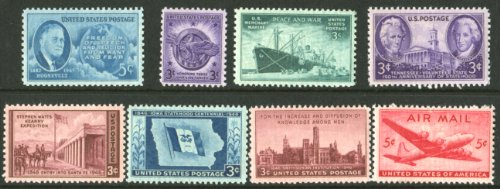 Complete Mint Set Of Postage Stamps Issued In The Year 1946 By The U S  Post Office Dept
