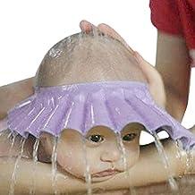 Bestpriceam(TM) Safe Shampoo Shower Bathing Bath Protect Soft Cap Hat For Baby Children Kids (Purple)