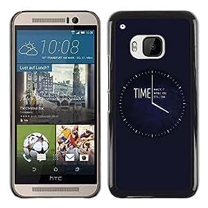 Be Good Phone Accessory // Dura Cáscara cubierta Protectora Caso Carcasa Funda de Protección para HTC One M9 // Time Waste It Til You Can