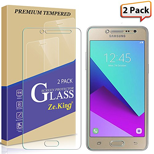 [2-Pack]Samsung Galaxy J2 Prime, Galaxy Grand Prime Plus,Tempered Glass  Screen Protector, Zeking 0 33mm 2 5D Edge 9H Hardness [Anti
