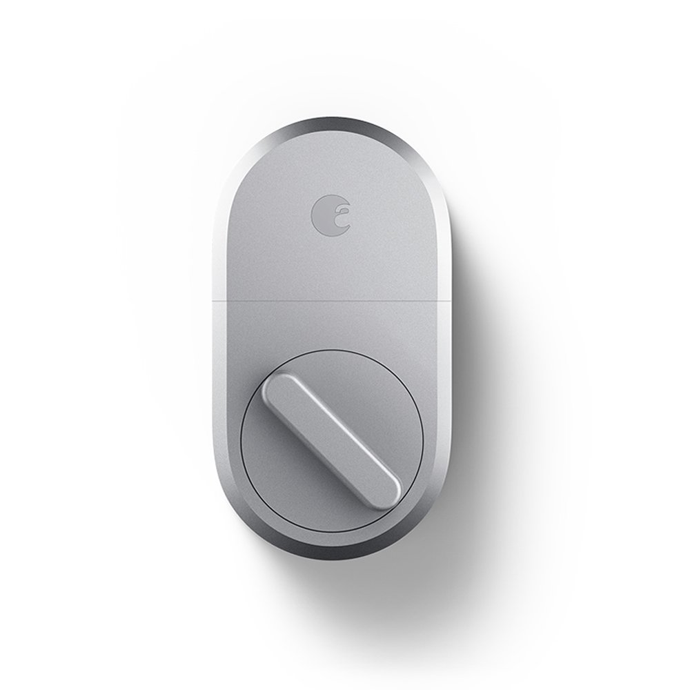 August Smart Lock, 3rd Gen technology – Silver, Works with Alexa