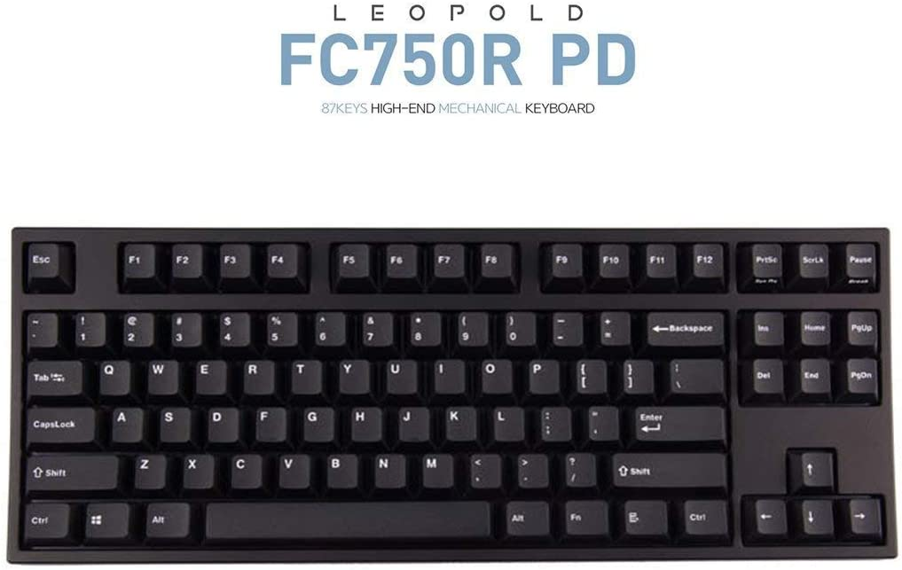 Leopold FC750R PD 87keys High-end Mechanical Keyboard MX cherry switch 1.5mm PBT (Black, Red Switch)