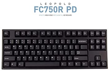 e3d38bbe646 Leopold FC750R PD 87keys High-end Mechanical Keyboard MX Cherry Switch  1.5mm PBT (Black, Silent Red Switch): Amazon.ca: Electronics