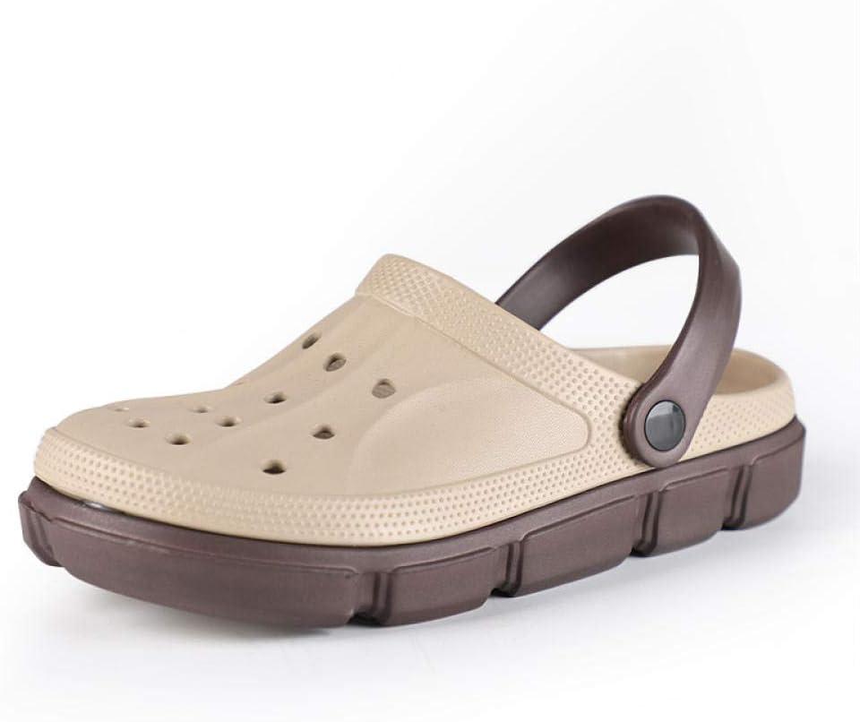 Zuecos Jardín y el Ocio Sandalias,Sandalias de obstrucción de secado rápido para hombres,zapatos de jardín,zapatillas de deslizamiento de enfermería livianas,mula de playa sin cordones para patio/jar: Amazon.es: Hogar
