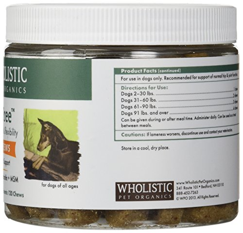 Wholistic Pet Organics 120 Count Run Free Soft Chews Supplement by Wholistic Pet Organics (Image #3)