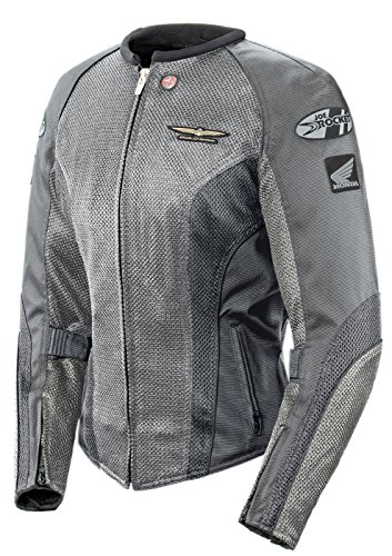 Joe Rocket 'Skyline 2.0' Womens Silver/Grey Mesh Motorcycle Jacket - X-Large