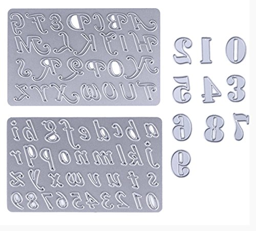 Dies Cut Scrapbooking Cutting Die for Card Making Numbers English Letters Words Alphabet Metal Stencils 3set for DIY Photo Album Decorative DIY Paper Gift(Set 7)