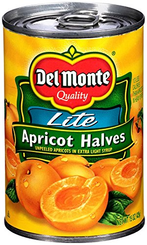 Del Monte Canned Apricot Halves in Extra Light Syrup, 15-Ounce (Pack of 12) by Del Monte