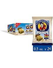 Pirate's Booty Cheese Puffs, Healthy Kids Snacks, Real Aged White Cheddar, (Pack of 24) (.5 Ounce) Individually Sized Bags
