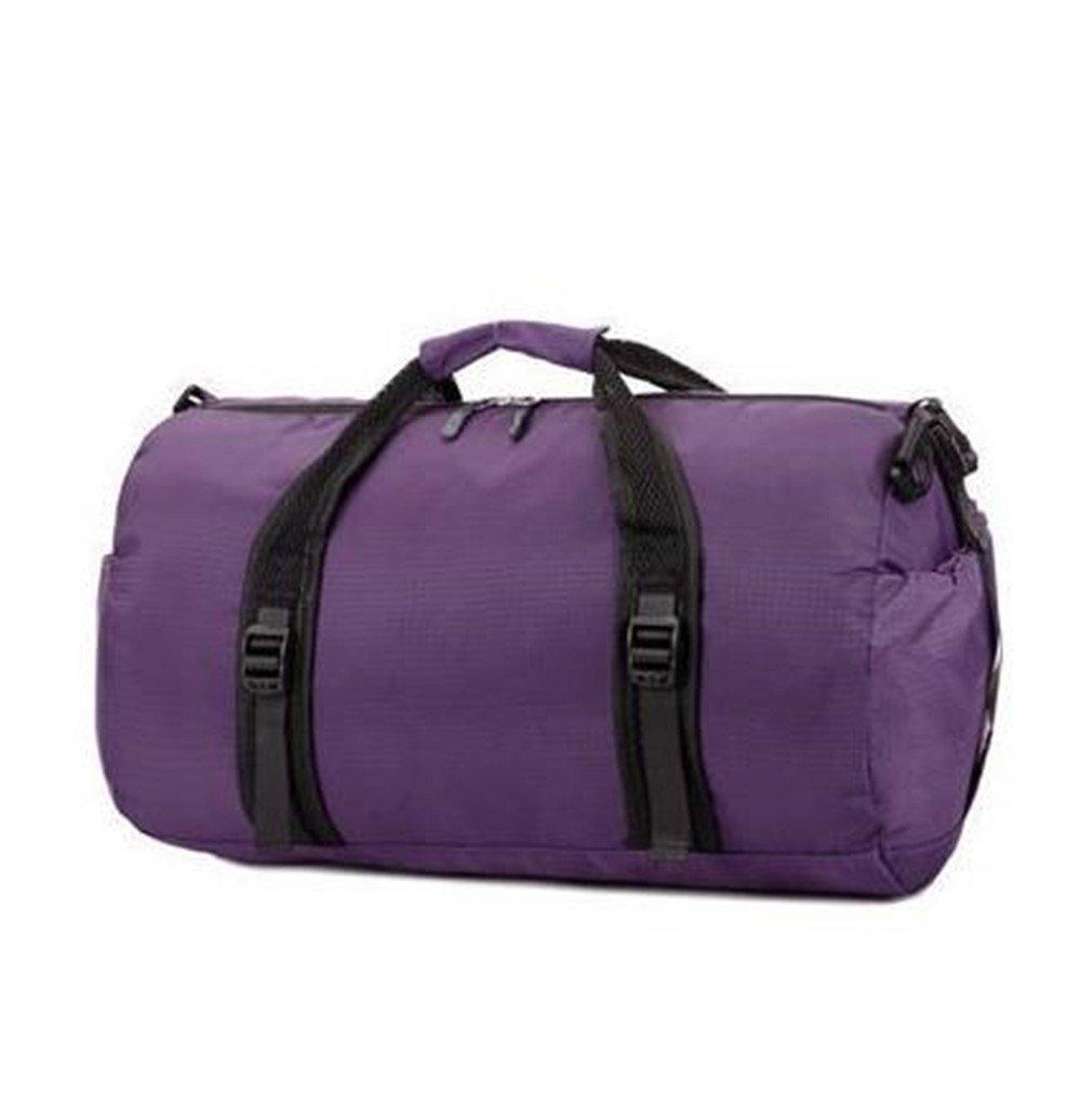 Waterproof Travel Bag For Men & Women Collapsible Bag Large Capacity Folding Bags Purple