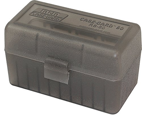MTM 50 Round Rifle Ammo Box 17, 204, 223, 5.56x45, 6x47 ()