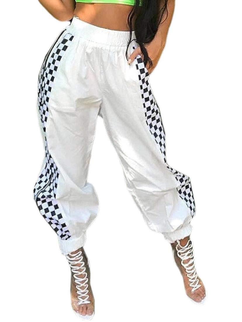 ShuangRun - Pantalones Largos de chándal con Cremallera para Mujer ...
